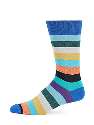 Jaspe Wide-Striped Socks