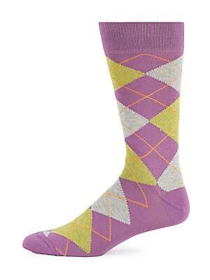 Jaspe Argyle Mid-Calf Socks