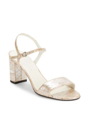 Stuart Weitzman Embossed Slingback Sandals