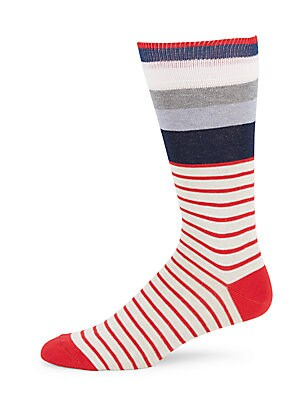 Cotton Multi-Striped Socks