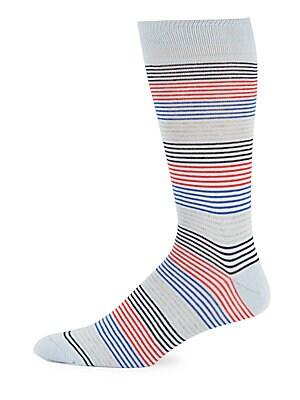 Variegated Striped Italian Socks