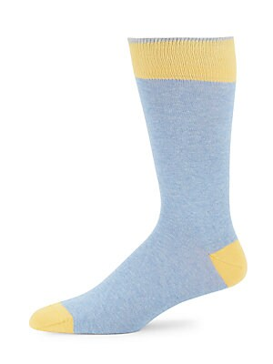 Cotton-Blend Colorblock Socks