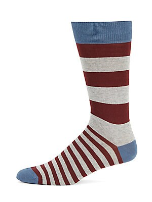 Striped Contrast Ankle Socks