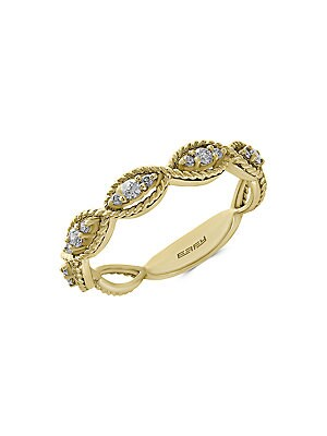 Diamond & 14K Yellow Gold Ring