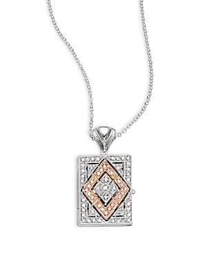 Click here for Diamond  14K White & Yellow Gold Pendant Necklace prices