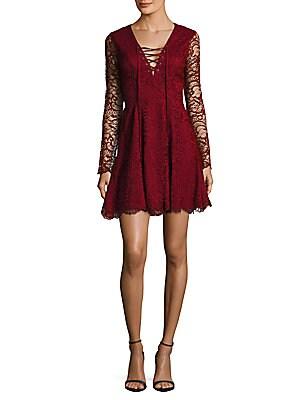 Crisscross-Front Lace Dress