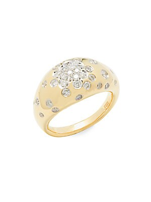 Diamond & 14K Yellow Gold Ring