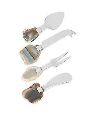 Four-Piece Agate Cheese Set