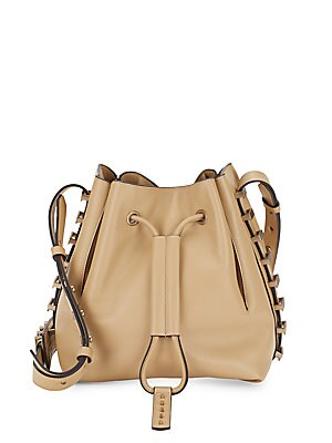 Nico Studded Leather Bucket Bag
