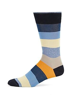 Mercerized Colorblock Socks