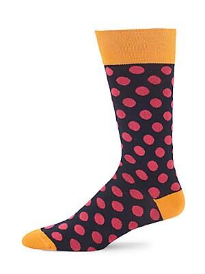 Polka-Dot Cotton-Blend Socks