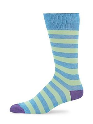 Striped Mercerized Socks