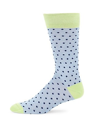 Polka-Dot Mercerized Socks