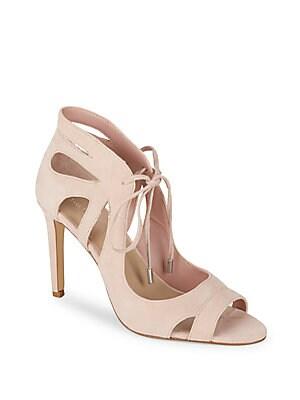 Filipa Lace-Up Stiletto Leather Sandals