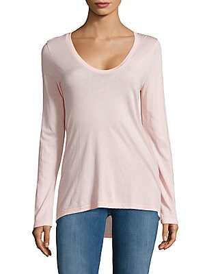 Solid Long-Sleeve Blouse