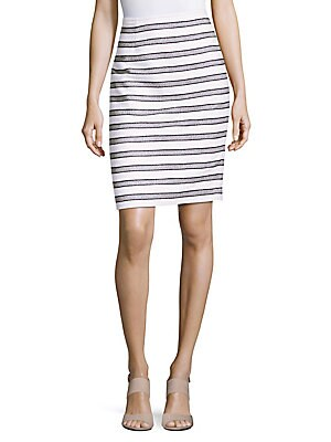 Boucle Striped Cotton Skirt
