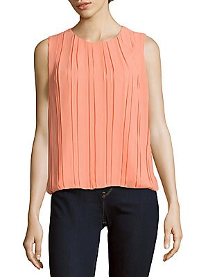 Solid Pleated Blouse