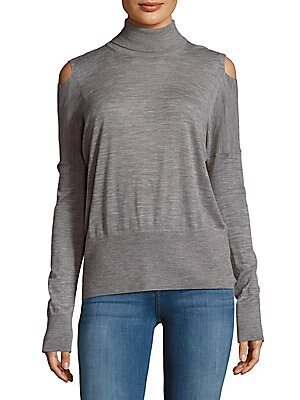 Solid Cold-Shoulder Sweater