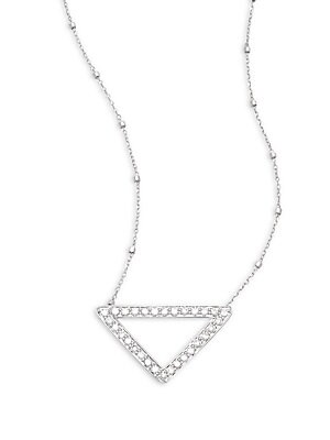 Click here for Private Label Diamond & 14K White Gold Triangle Pe... prices
