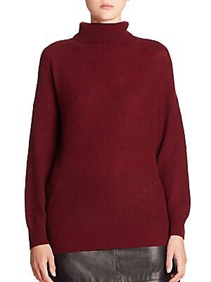 Rani Cashmere Rib-Knit Turtleneck Sweater