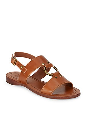 Harness Style Leather Sandals