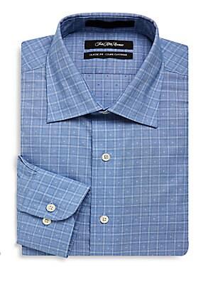 Textured Classic-Fit Dress Shirt