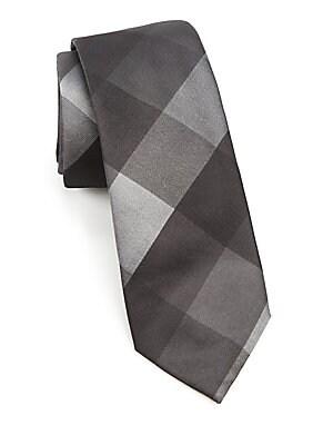 MODERN Geometric Print Silk Tie