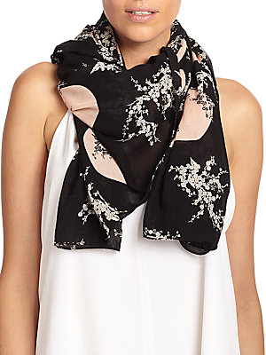 marc jacobs female kaipop flower scarf