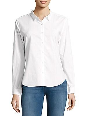 W4th & Jane Slim-Fit Cotton Button-Down Shirt