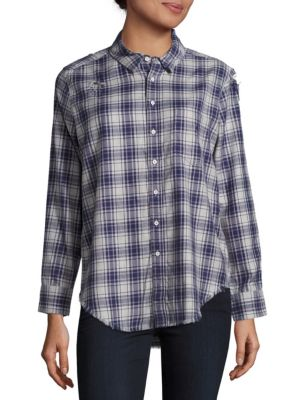 Nassau & Manhatta Regular-Fit Plaid Shirt