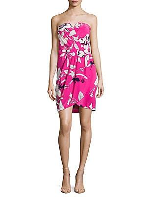 Date Night Floral-Print Silk Dress