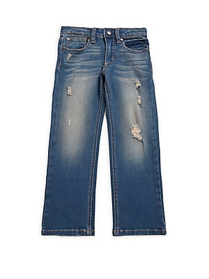 Little Boy's Five-Pocket Distressed Jeans