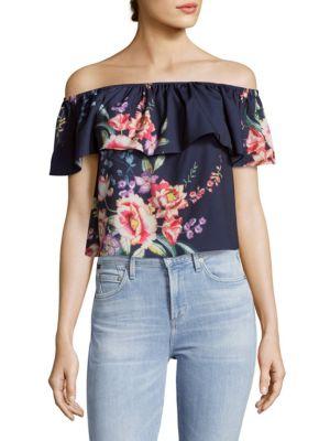 Floral Off-Shoulder Top Yumi Kim