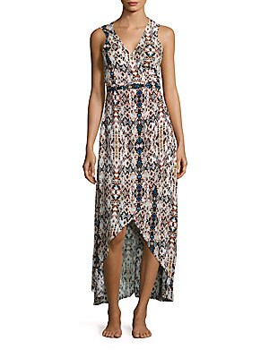 Tropez Sleeveless Hi-Lo Wrap Dress