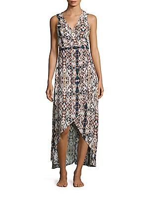 Tropez Sleeveless Hi-Lo Wrap Dress