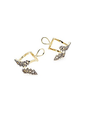 CZ-Studded Stud Earrings