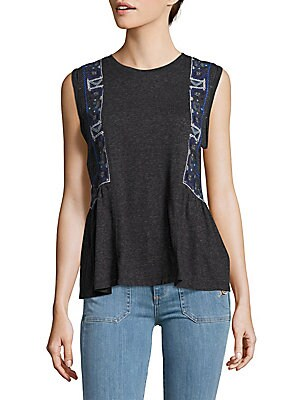 Embrodiered Knit Top