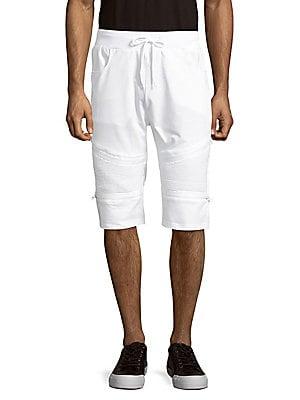 Cotton-Blend Drawstring Shorts