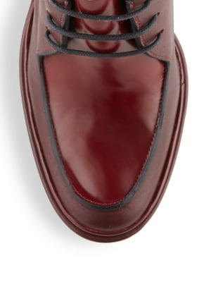 JIL SANDER Platform Leather Derby Shoes
