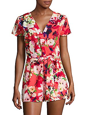 Paradise Floral Wide-Legged Romper