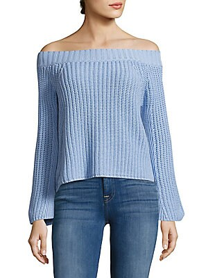 Cotton Rib-Knit Top