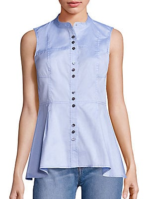 Cotton Peplum Blouse