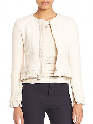 Cotton Fringed Short Jacket