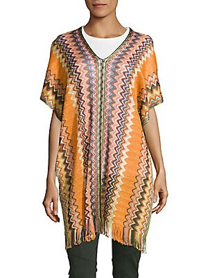 Multicolored Knit Cover-Up