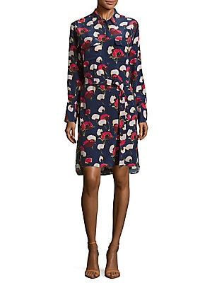 Delany Printed High-Low Shirtdress