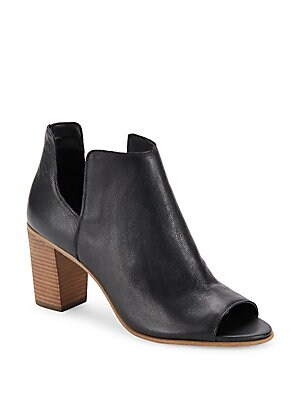 Open Toe Leather Booties