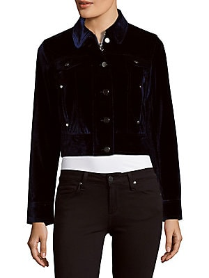 Cropped Velvet Jacket