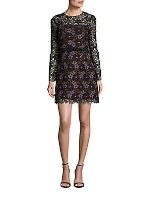 Lynden Bell Floral Lace Long Sleeve Dress
