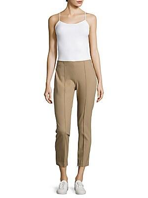 Alettah Solid Zippered-Cuffs Pants