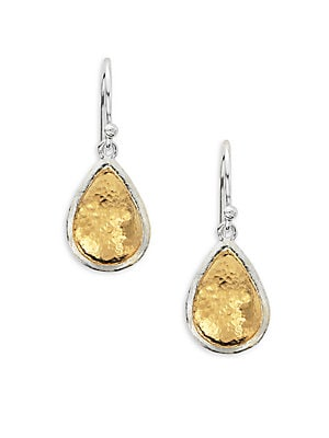 Amulet 24K Gold-Plated & Sterling Silver Pear Drop Earrings